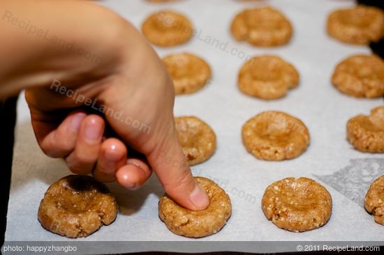 Make a thumbprint in the cookies