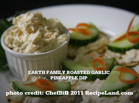Earth Family Roasted Garlic Pineapple Dip