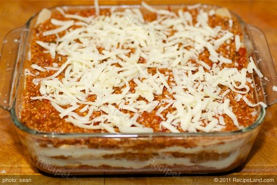 Sprinkle half of the remaining mozzarella cheese.