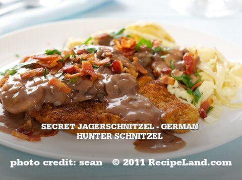 Secret Jagerschnitzel - German Hunter Schnitzel