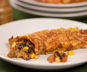 Black Bean Corn Enchiladas