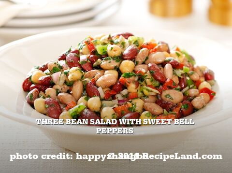 Three Bean Salad with Sweet Bell Peppers