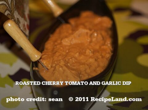 Roasted Cherry Tomato and Garlic Dip