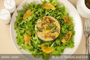 Arugula Salad Orange Couscous and Citrus Vinaigrette
