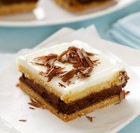 chocolate pumpkin layered cheesecake bars 1 had some pumpkin puree and ...