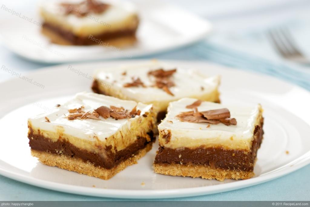 Chocolate Pumpkin Layered Cheesecake Bars Recipe