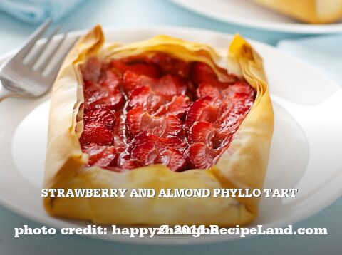 Strawberry and Almond Phyllo Tart