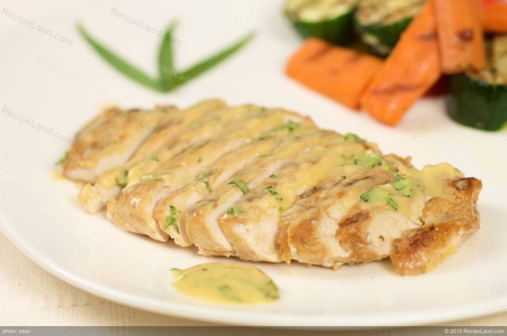 Grilled Tarragon Chicken with Mustard Sauce Recipe