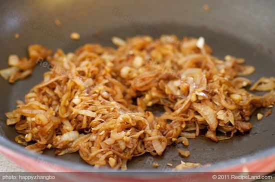 Cook until the onions become brown and caramelized, about 15 minutes.