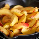 One Pan Peach Pancake