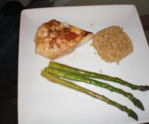 Keir's Orange Roughy Fillet and Baked Garlic Asparagus