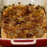 Caramelized Shallots, Basil-Olive Oil and Goat Cheese Bread
