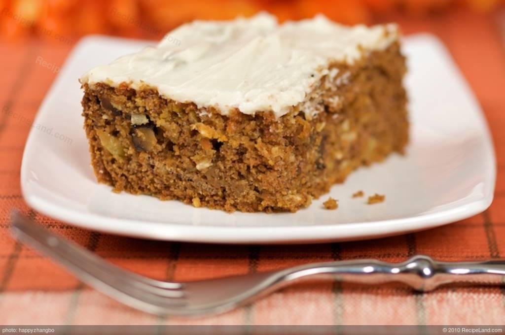 Low Calorie Christmas Cake Recipes: Carrot Cake (low-fat) Recipe