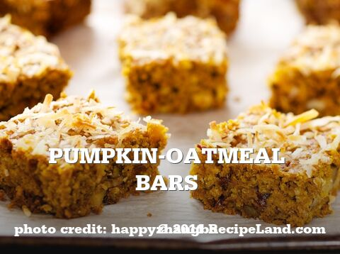 Pumpkin-Oatmeal Bars