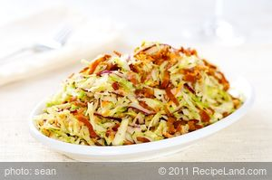 Cabbage Bacon Salad with Creamy Buttermilk Vinaigrette