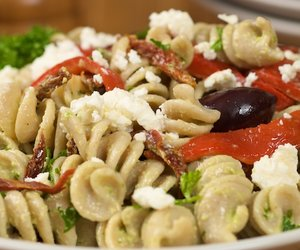 Leftover Greek Pasta Salad