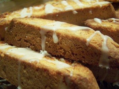 Almond Ginger Biscotti
