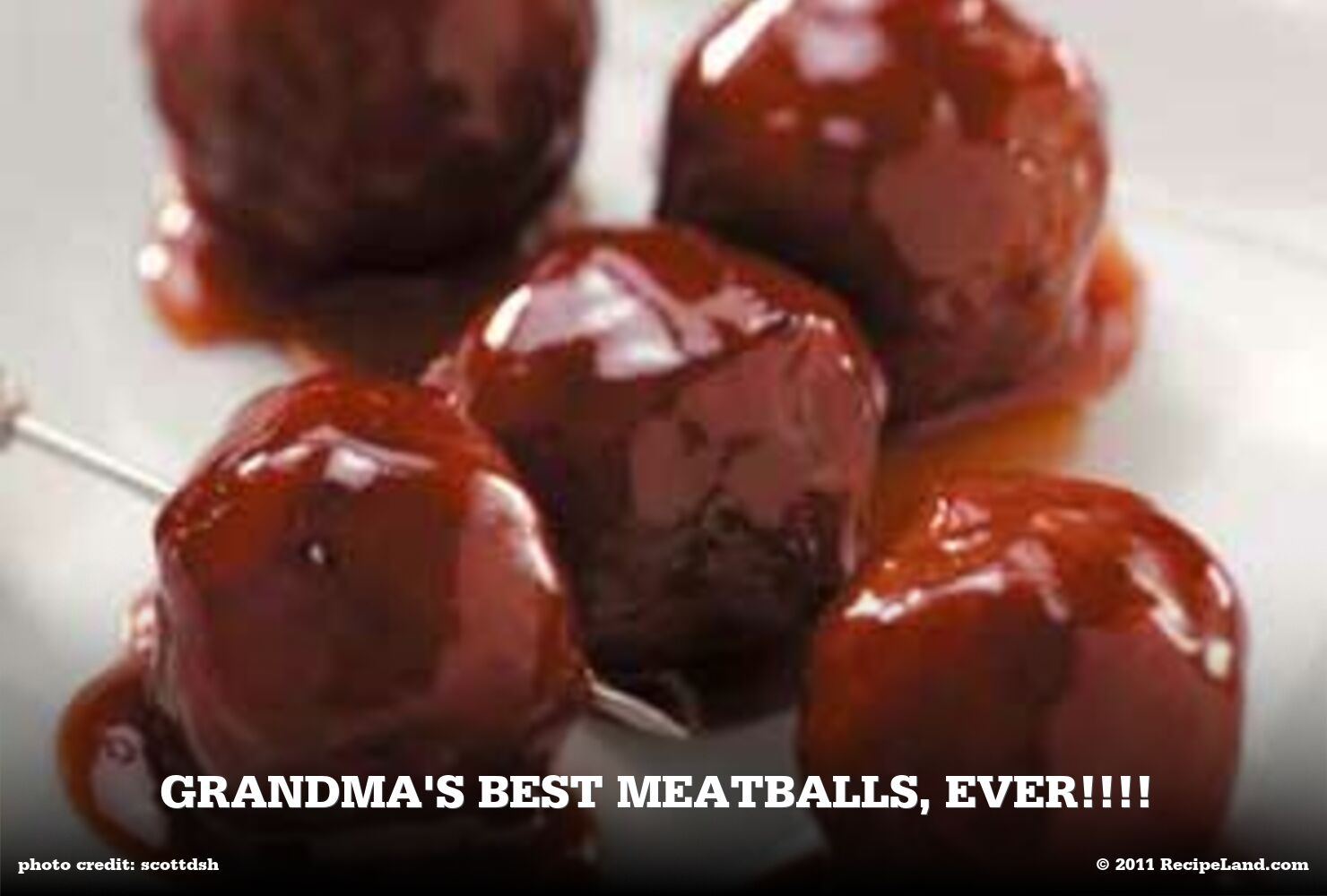 Grandma's Best Meatballs, EVER!!!!