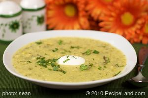 Corn and Tomatillo Soup
