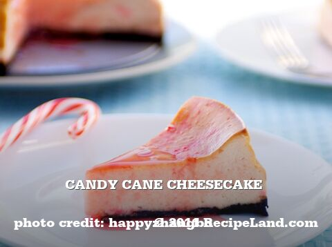 Candy Cane Cheesecake