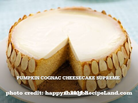 Pumpkin Cognac Cheesecake Supreme