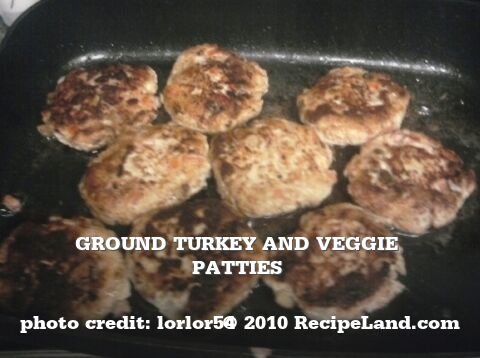 Ground Turkey and Veggie patties