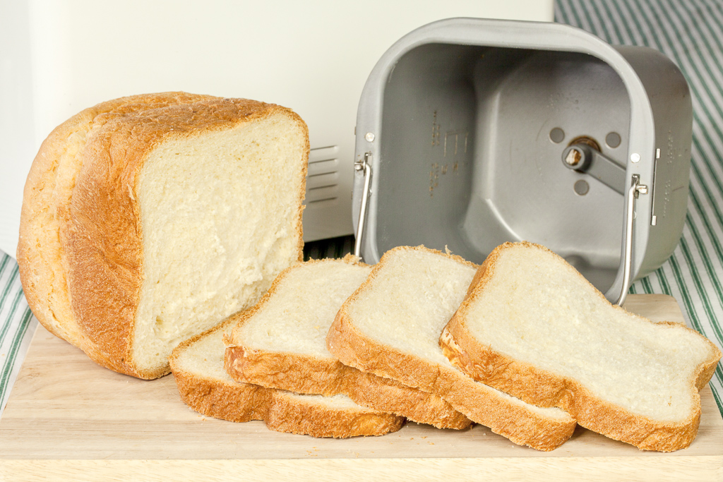 Bread Sliced From A Bread Machine