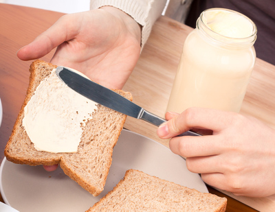 light mayonnaise jar, spread on bread
