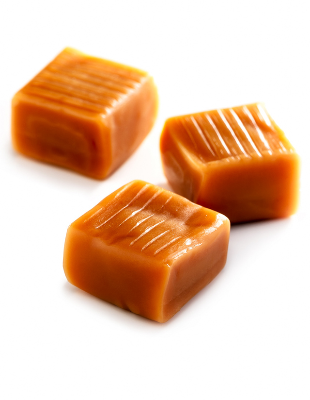 Caramels (candy squares): nutrition data, where found and ...